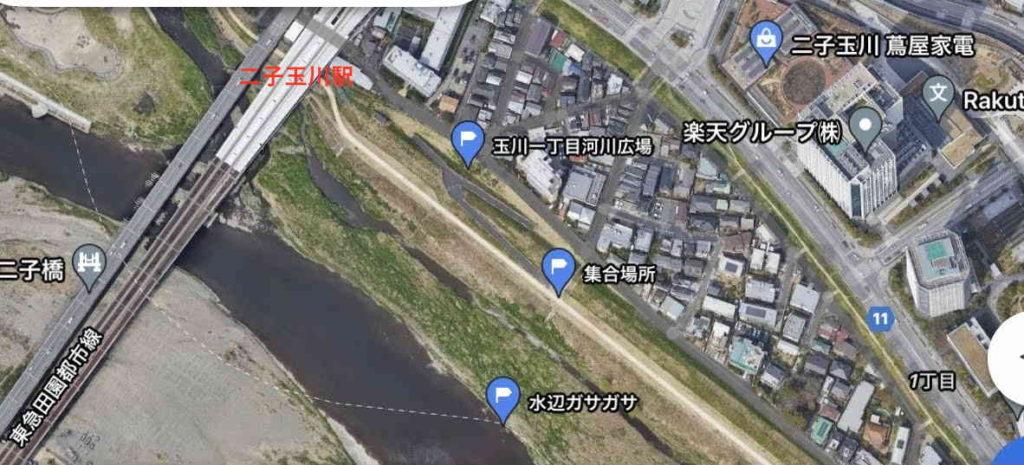 開催場所・集合場所の大まかな地図
