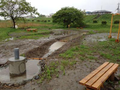 池に水がたまり過ぎ_c0091679_357844.jpg