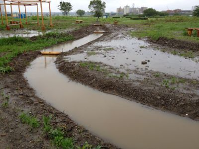 池に水がたまり過ぎ_c0091679_357931.jpg